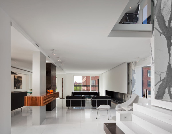 A Dark, Two Level Space Gets a Dramatic Renovation in main interior design architecture  Category