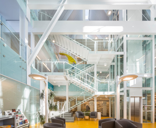 Monique Corriveau Library Housed in an Old Church in main interior design architecture  Category