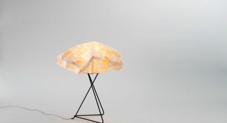 Delicate Lamps Made from Special Origami-Inspired Fabric