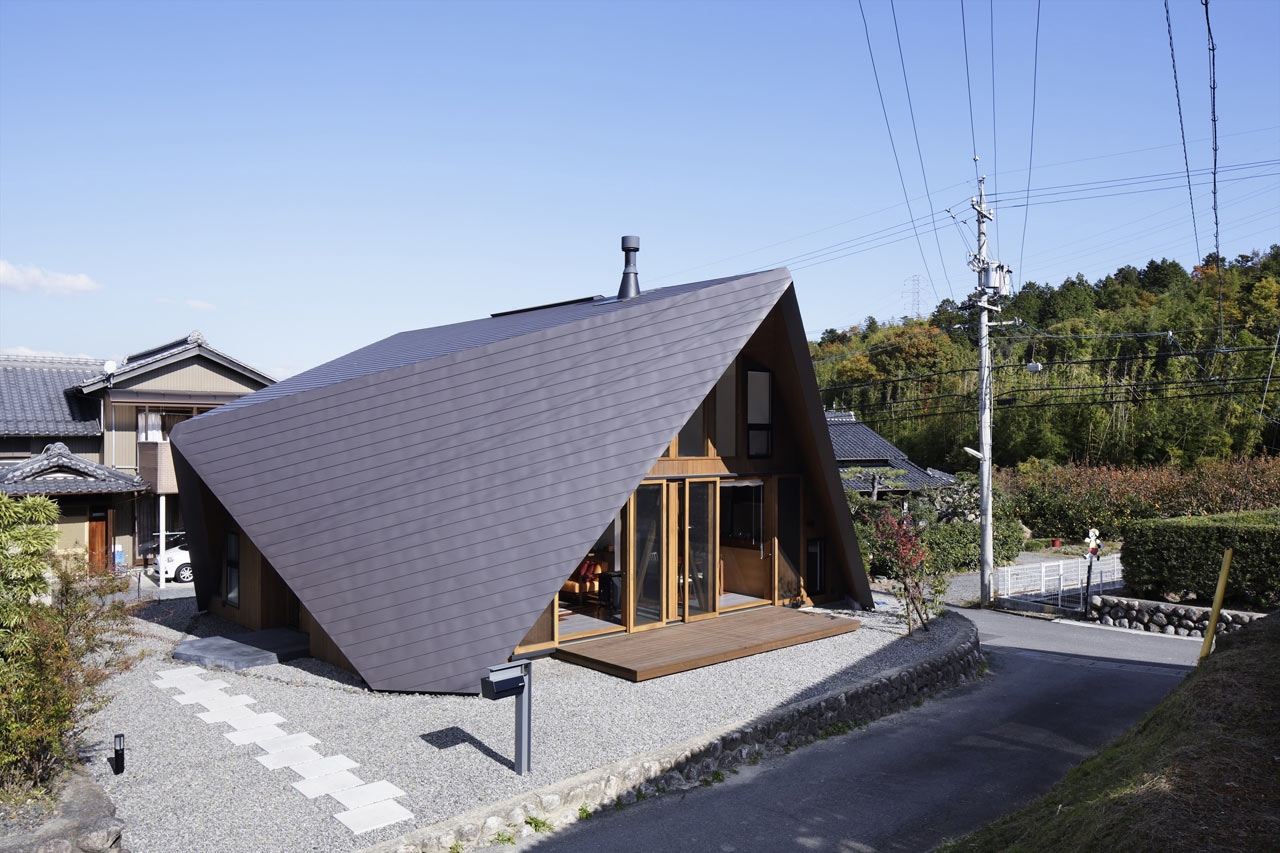 A House With An Origami Like Roof