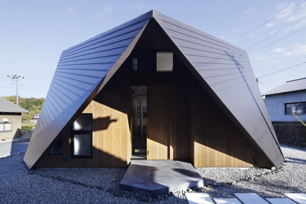 A House with an Origami Like Roof in main architecture  Category
