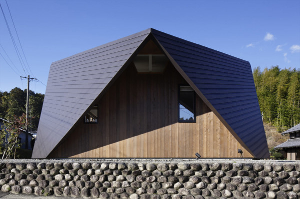 A House with an Origami-Like Roof