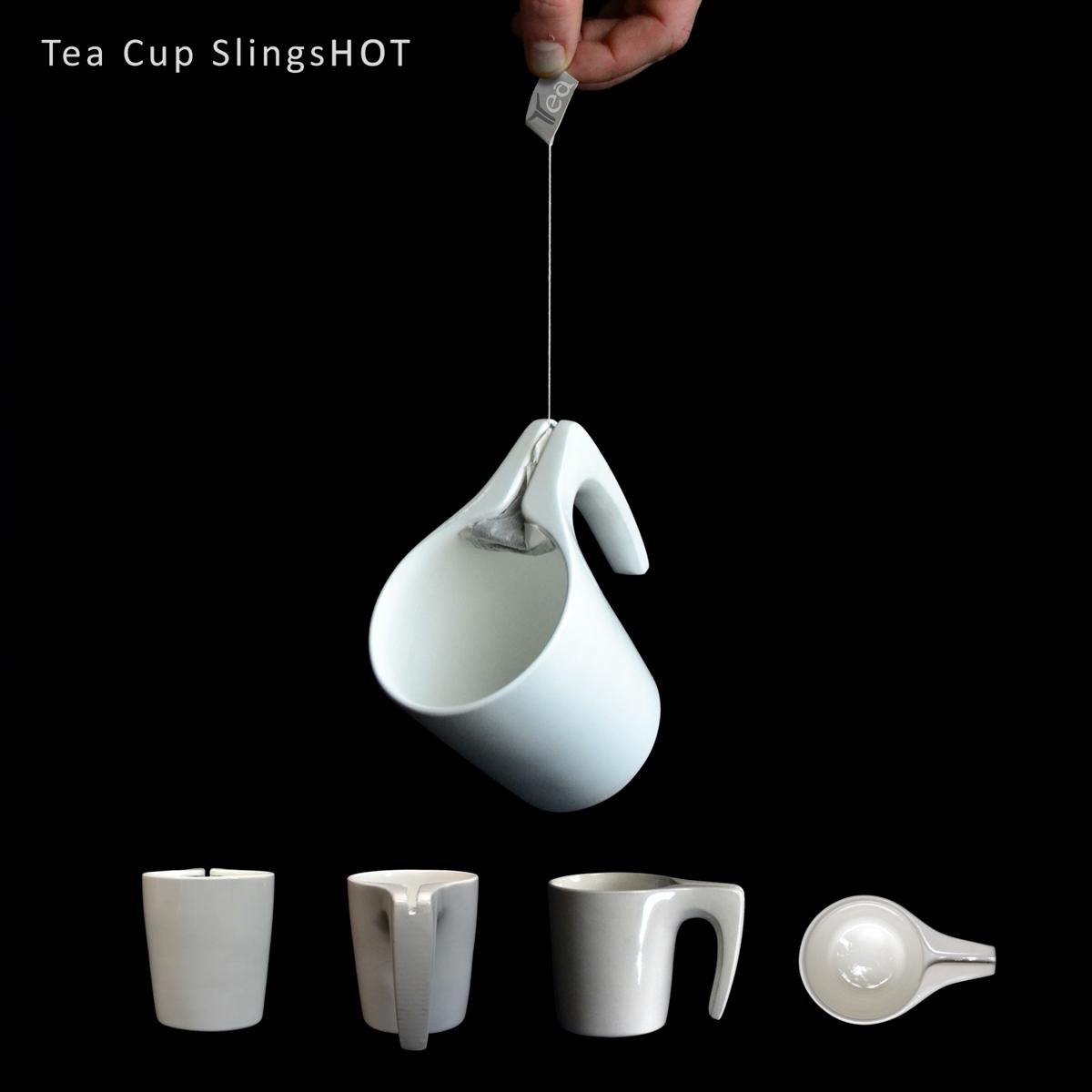 The Tea Cup SlingsHOT Means No More Wet Tea Bags