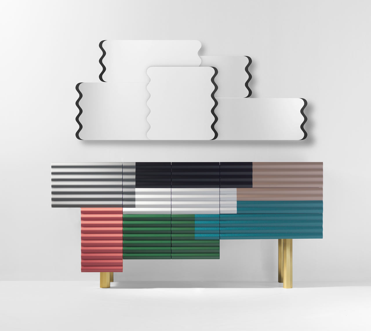 Cabinets with Patchwork Surfaces