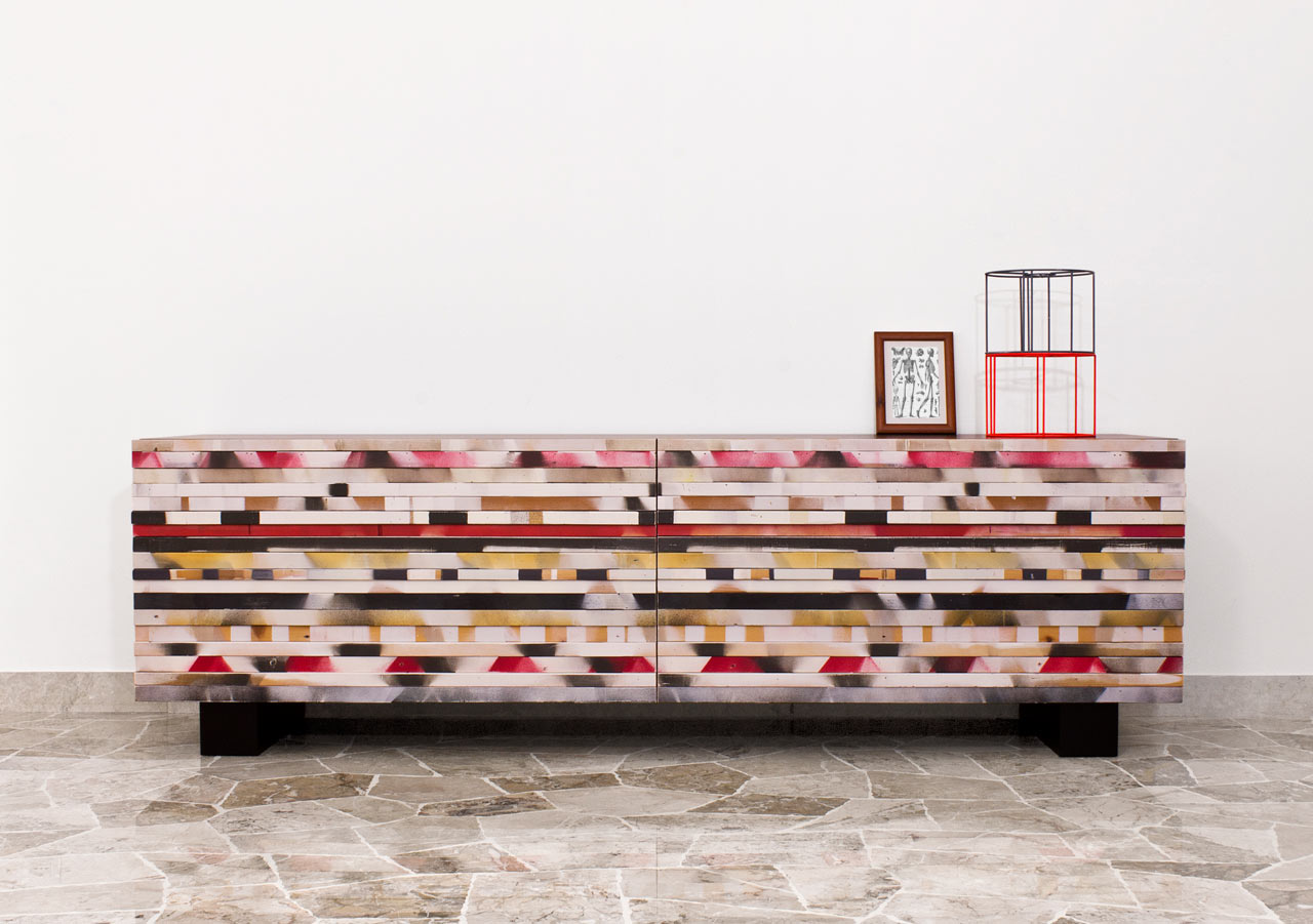 Soninke: A Recycled Wood Buffet by Davide G. Aquini