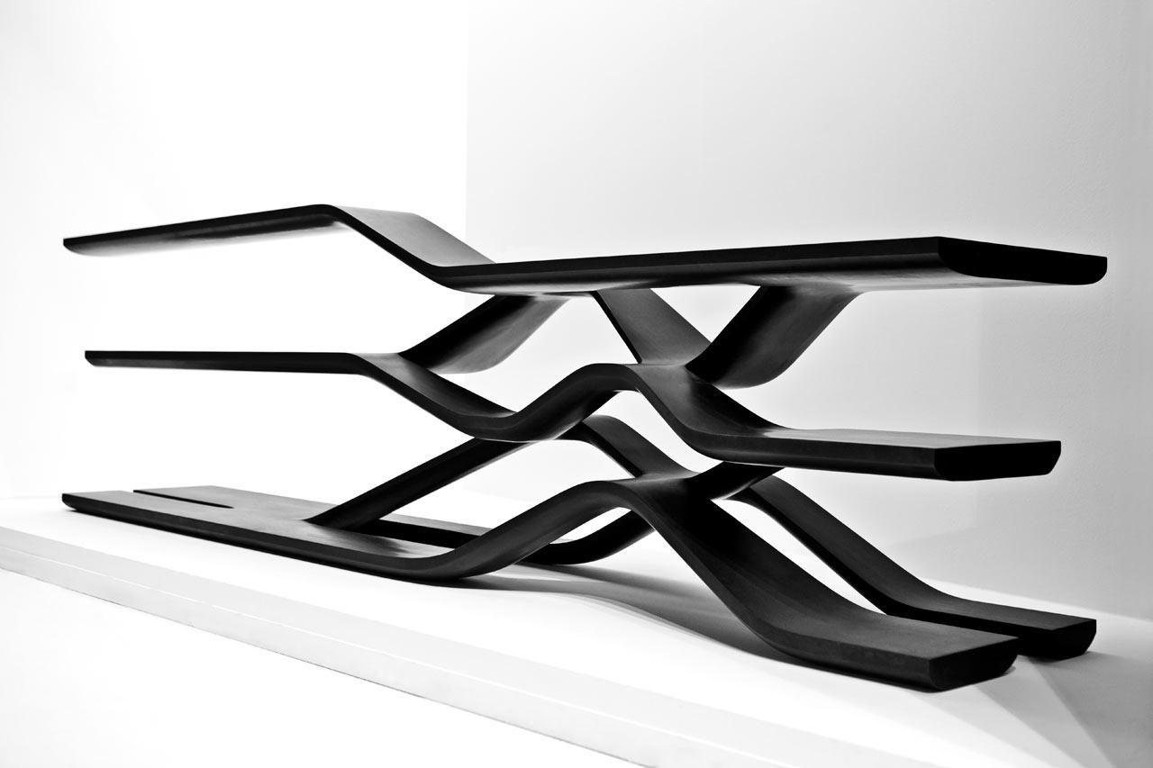 cantilevered shelf by zaha hadid for citco design milk