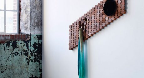 A Coatrack Made with Moving Hexagonal Blocks