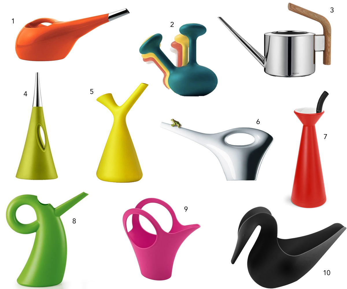 10 Modern Colorful Watering Cans