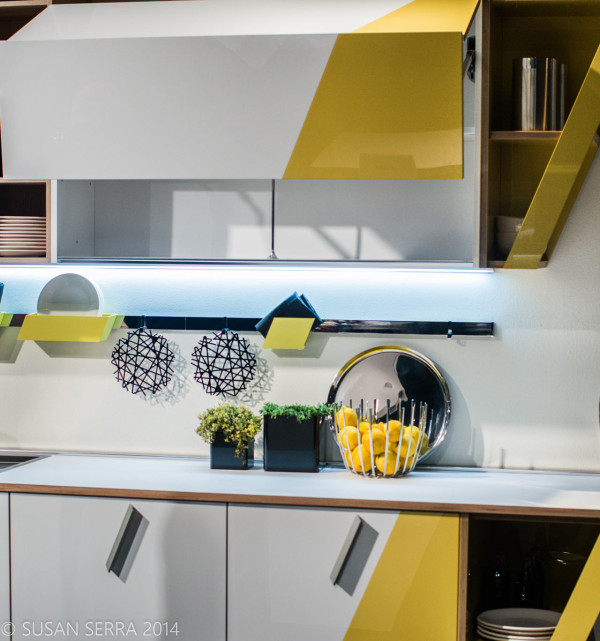 Modern Yellow White Kitchen Design