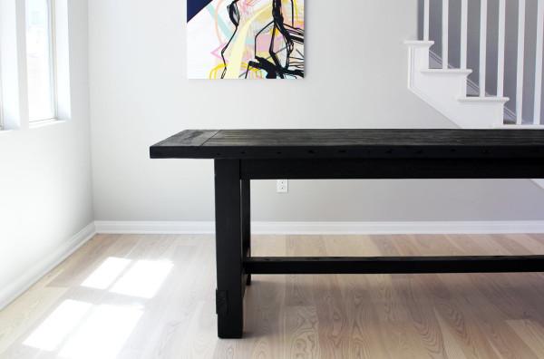 Superb restoration hardware black farmhouse table