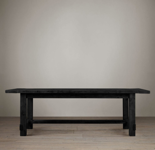 restoration hardware table. restoration-hardware-farmhouse-salvaged-table-black restoration hardware table