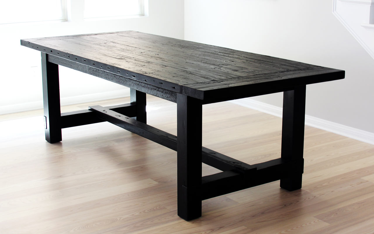 The most awesome dining table ever imperfection design for Black wood dining table