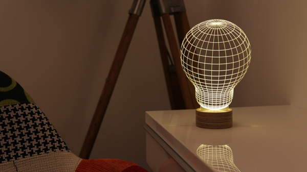 Bulbing lamps that create an optical illusion