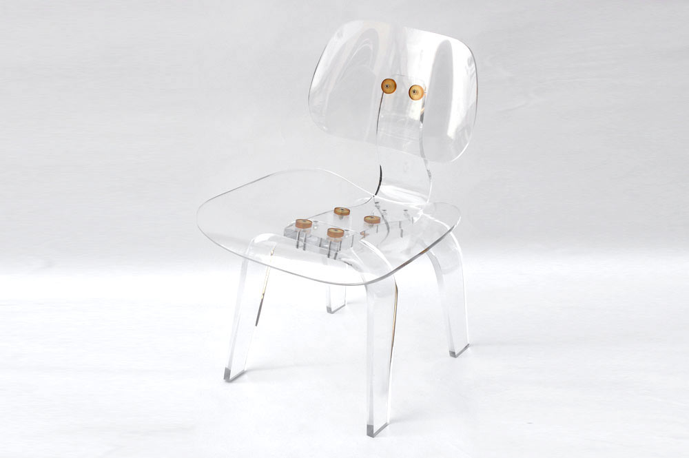 Clear acrylic Eames style chair