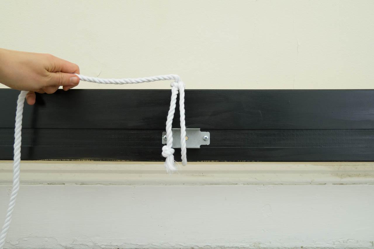 DIY Minimal Rope Headboard