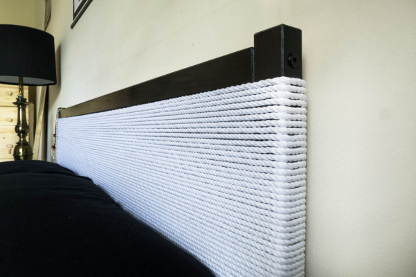 DIY Minimal Rope Headboard