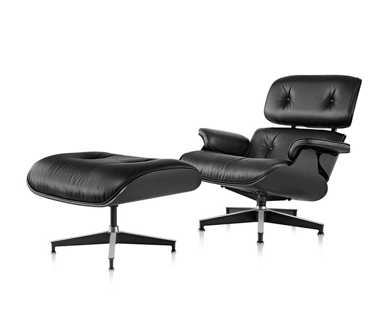 Murdered Out Eames Lounge Chair Ottoman Design Milk