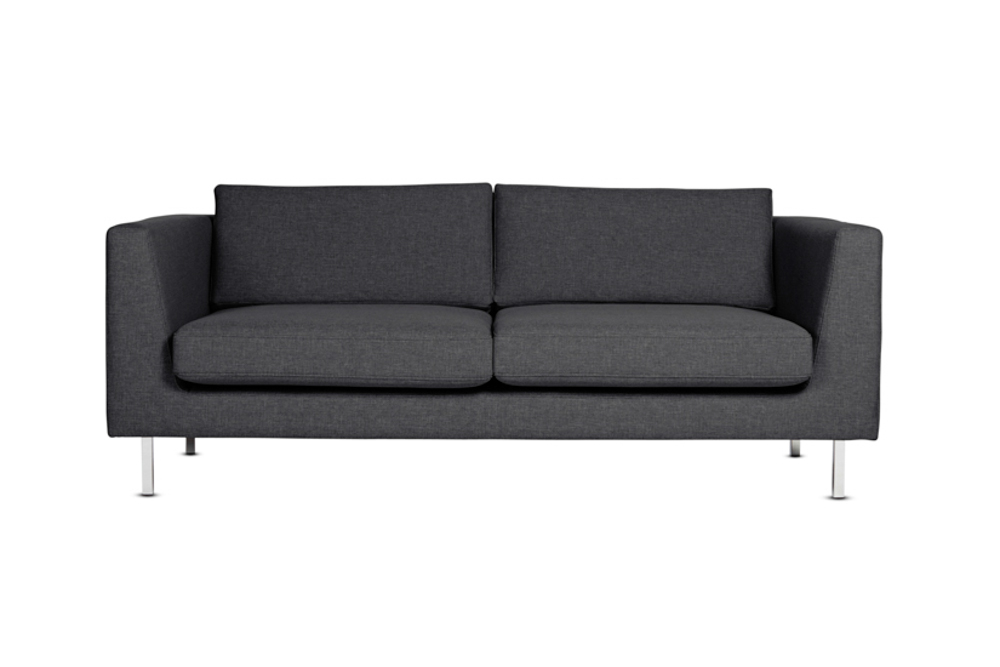 Flip Sofa 2 Seat Charcoal Chrome Legs
