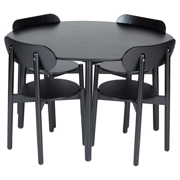 Gather Table with Chairs in Black