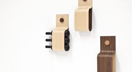 Incurva Modern Wine Rack or Magazine Holder