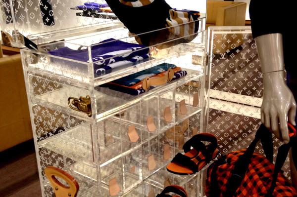 Louis Vuitton acrylic trunk