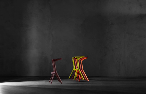 MIURA Stool by Konstantin Grcic for Plank in main home furnishings  Category