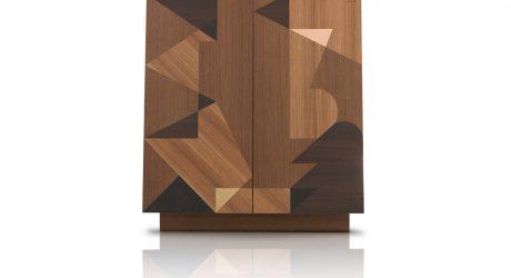Storage with Geometric Wooden Inlays