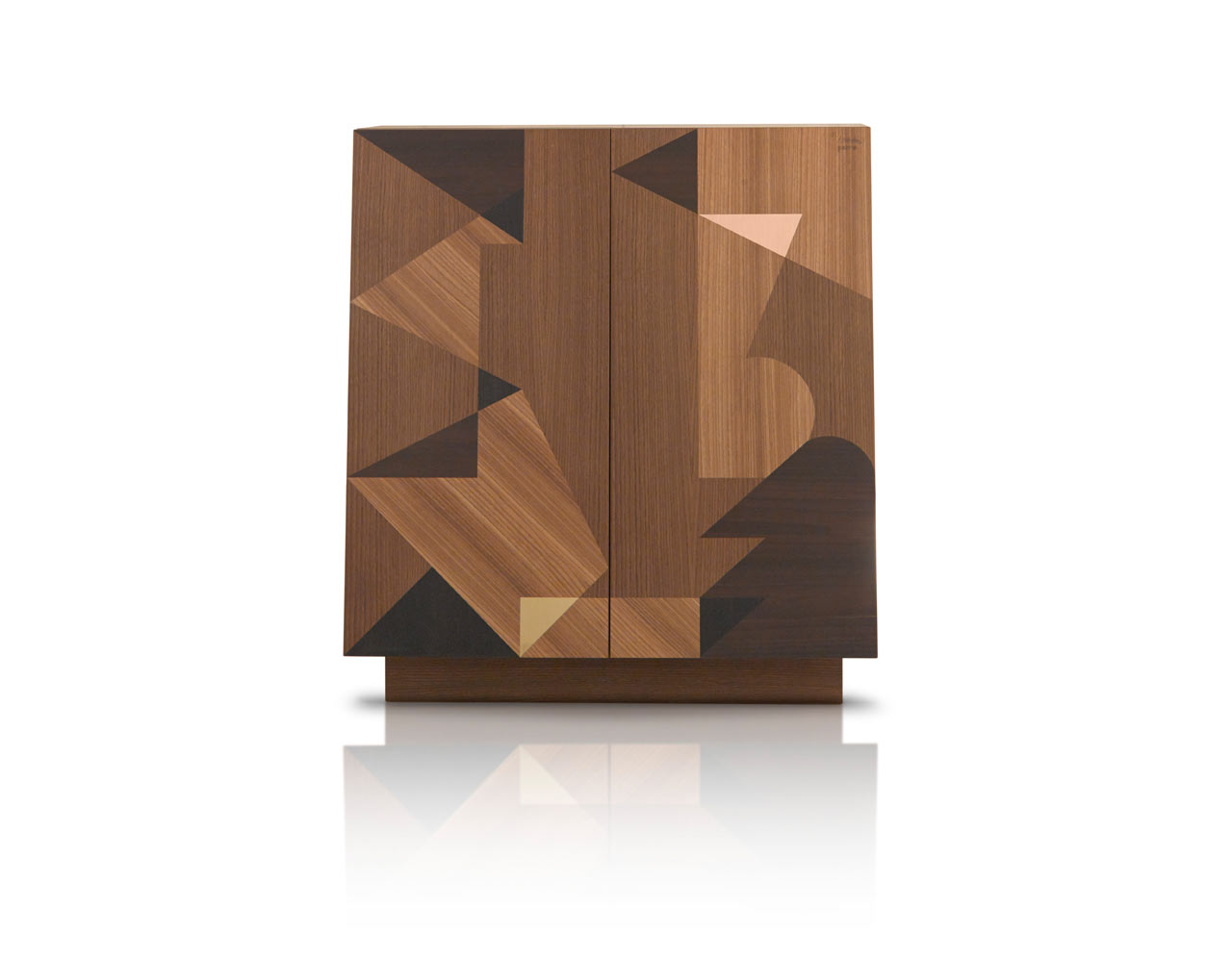 Storage with Geometric Wooden Inlays
