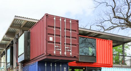 A Bar Built From Shipping Containers
