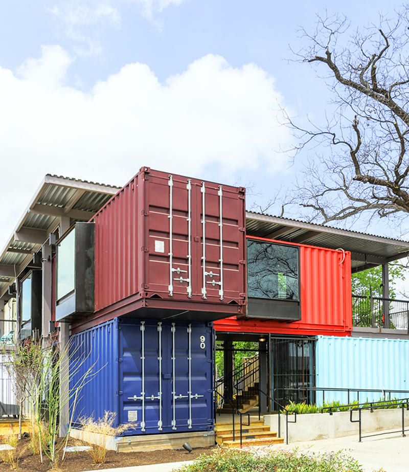 A Bar Built From Shipping Containers ...