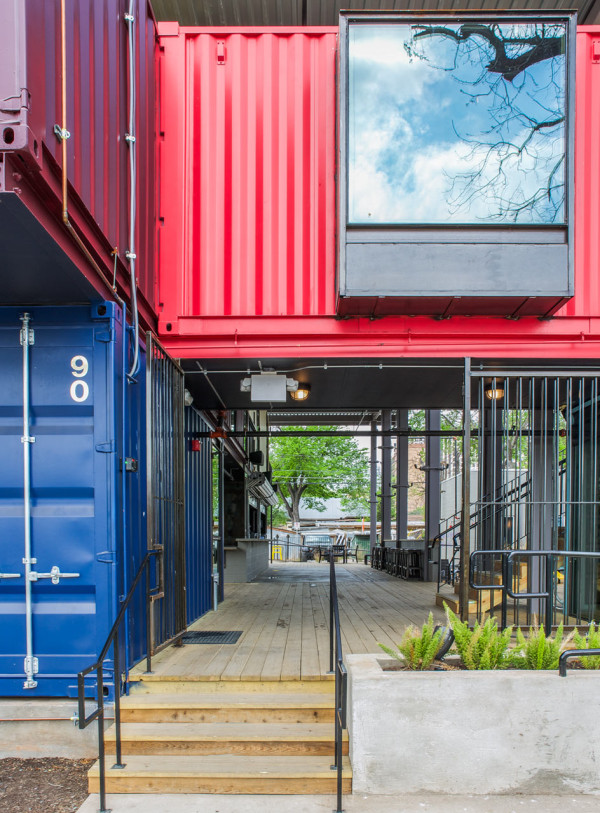 Container Bar Austin >> A Bar Built From Shipping Containers - Design Milk