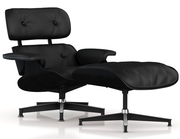 De Eames Stoel : Murdered out eames lounge chair & ottoman design milk
