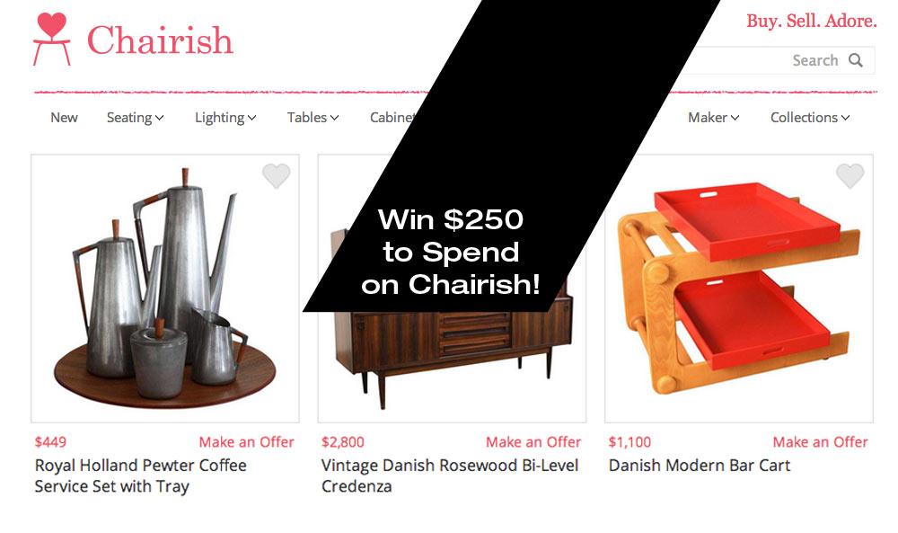 Chairish The Joy + Win a $250 Gift Card!