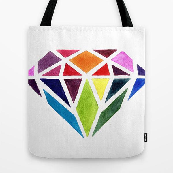 colorful-diamond-modern-tote-bag