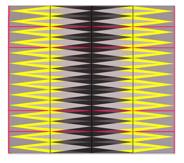 intervention. yellow.pink.grey. 82x92