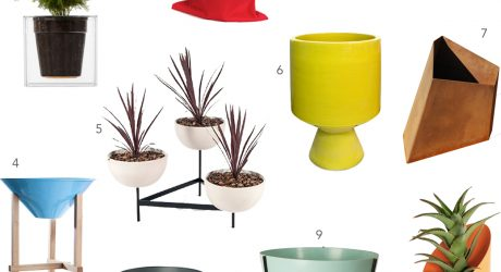 10 Colorful, Contemporary Outdoor Planters