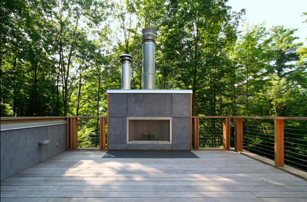 12 Amazing Modern Outdoor Fireplaces Design Milk
