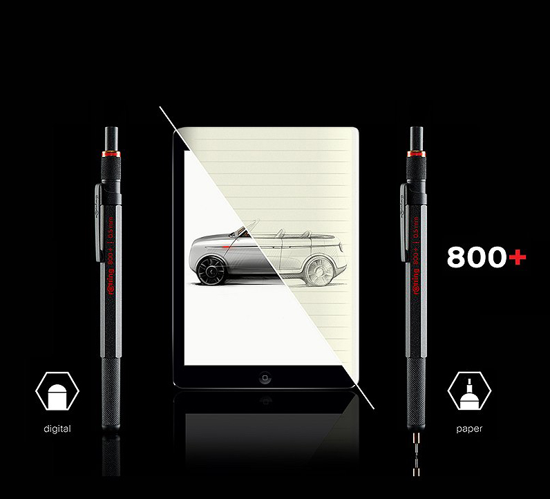 rOtring 800+ Erases the Line Between Pencil and Stylus