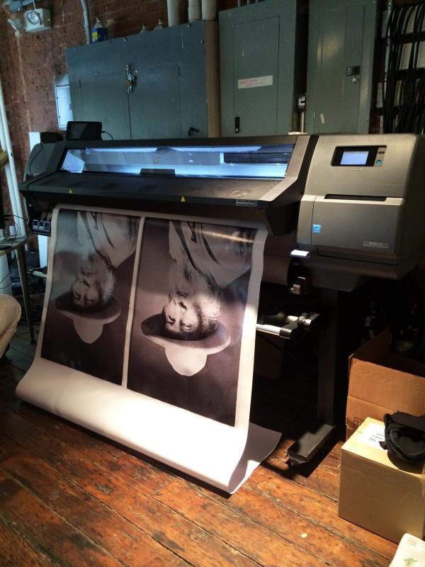 HP printer doing its thing...