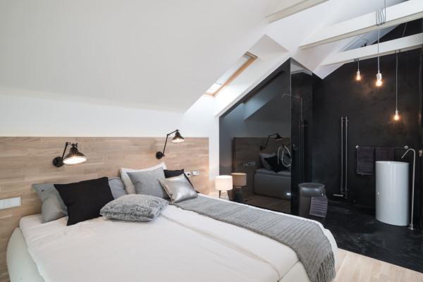 a family home with a black & white interior - design milk