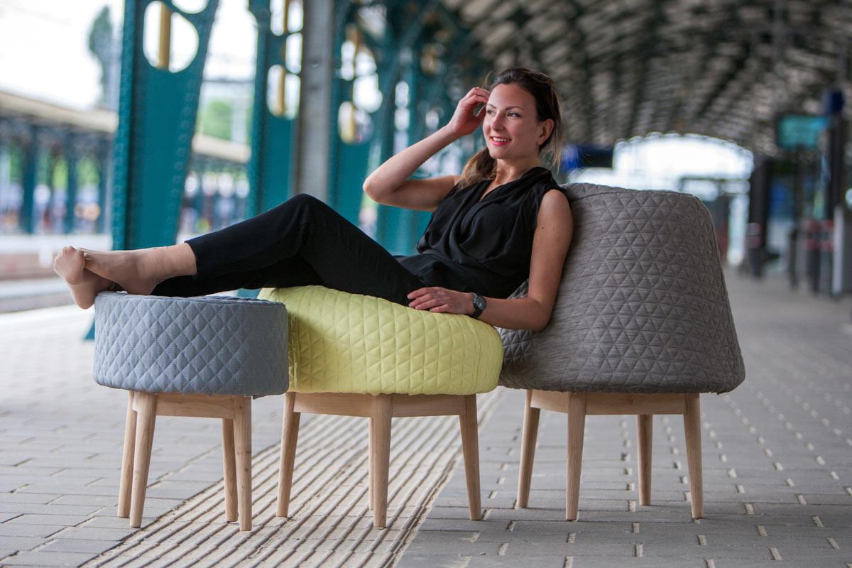 BOUNCE: Foam Sculpture Seats by Véronique Baer
