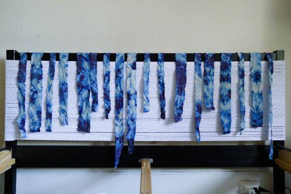 DIY Textured Rope Headboard