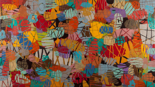 Abstract Graffiti Like Paintings Inspired by Manhattan in main art  Category