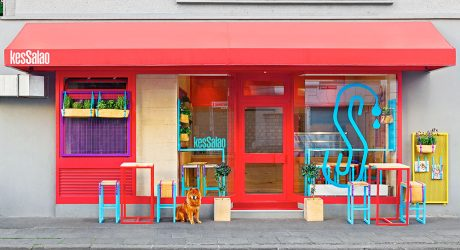 A Bright & Colorful Restaurant with Branding to Match
