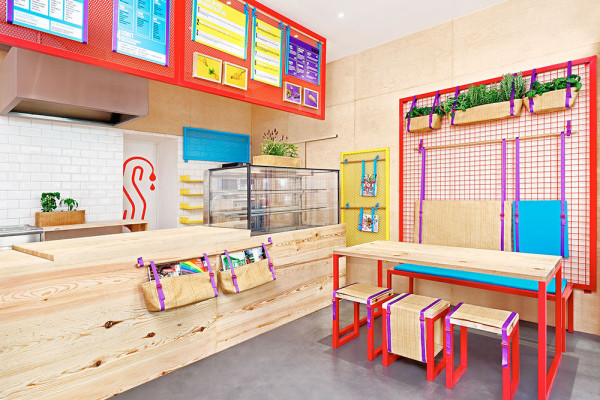 bright coloured furniture. masquespaciodesignkessalaorestaurant3 bright coloured furniture