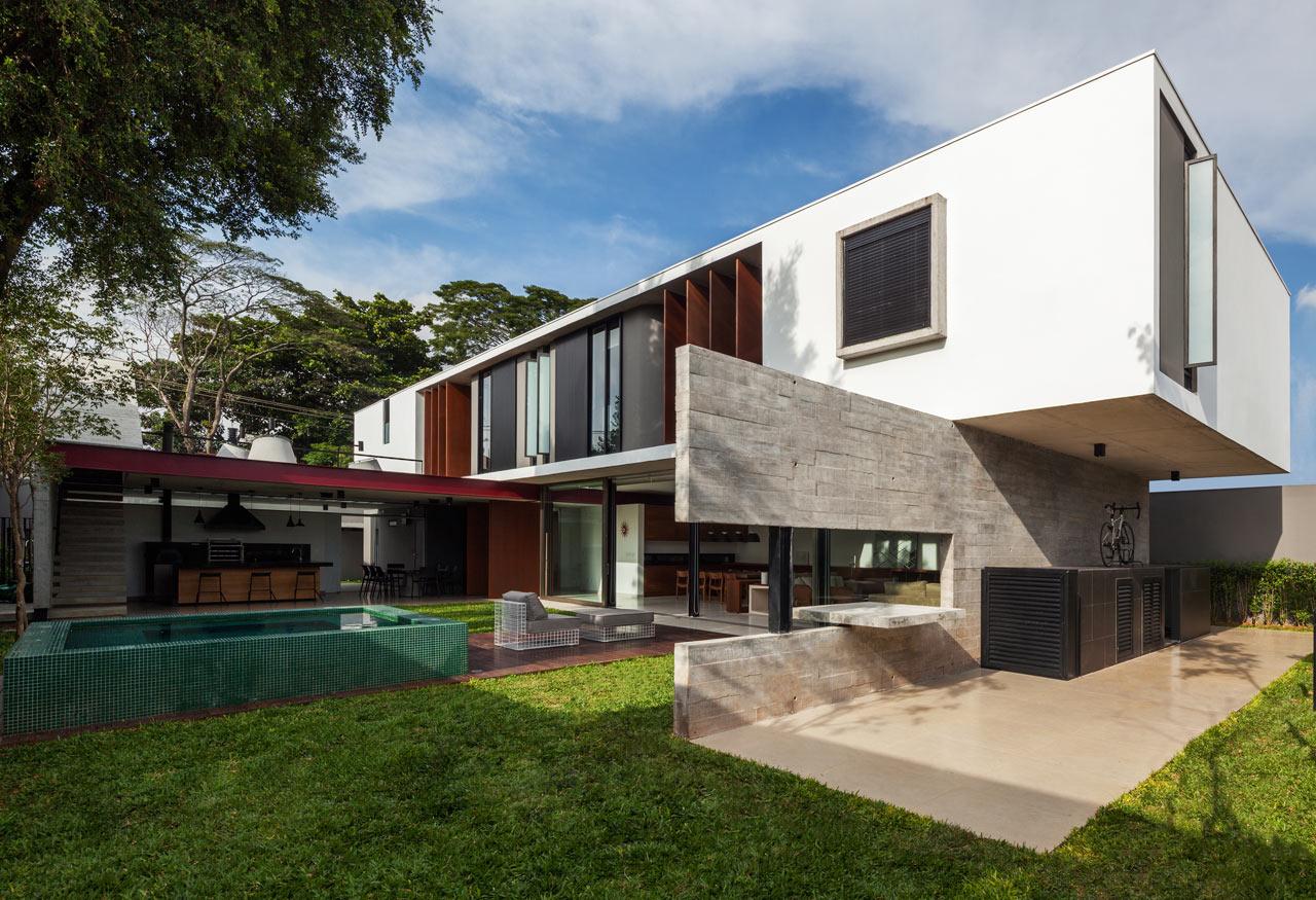 Brazilian Houses Planalto House An Urban House With A Brazilian Vibe Design Milk