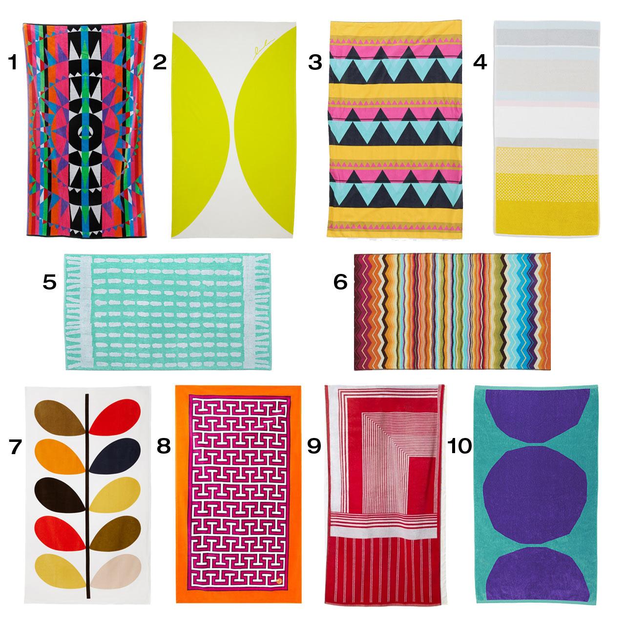 10 Colorful, Modern Beach Towels