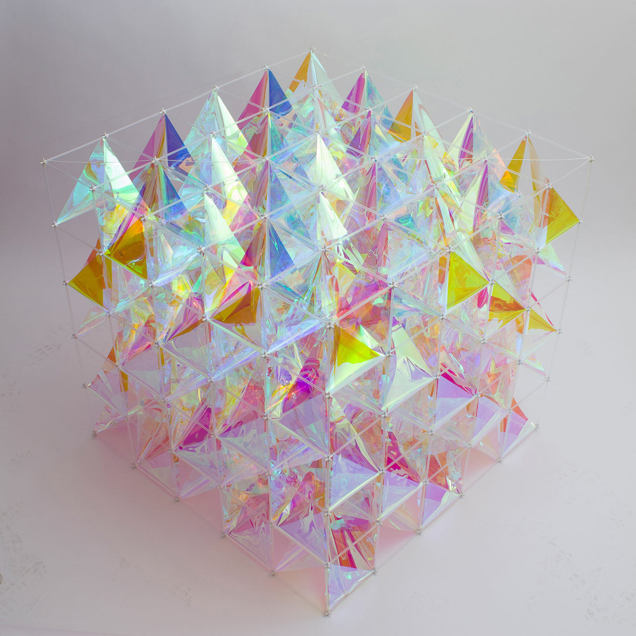 An Iridescent Kite Made From 3m Dichroic Glass Finishes