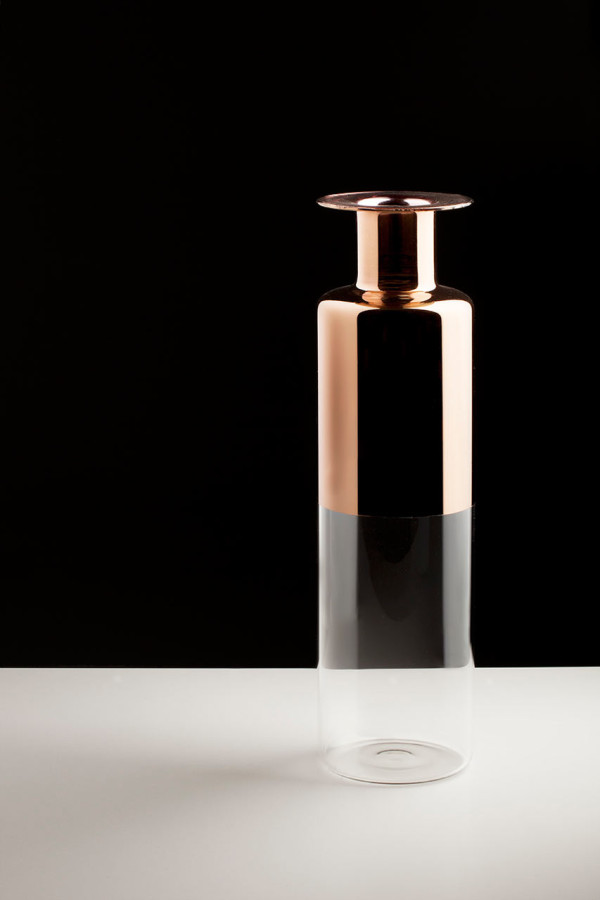 Tapio: Glass Vases with Copper Accents in main home furnishings  Category