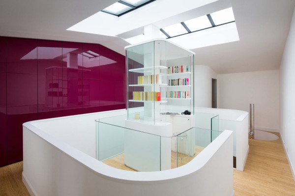 A French House Built Around a Central Atrium in main architecture  Category